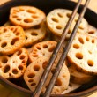 Stock Photo: Bowl of lotus root
