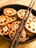 Bowl of lotus root — Stock Photo