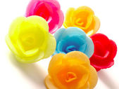 Wafer roses on white — Stock Photo