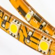 Strips with 3-chip and 1-chips SMD LEDs - Stock Photo