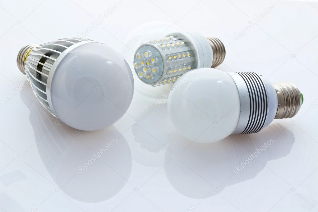 Different Types Of Led Bulbs E27 80mw Older Chips And New Chips Stock Photo Ludinko 9845712