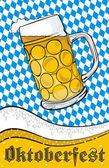 Mug of beer - oktoberfest — Stock Vector