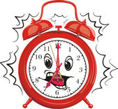 Red alarm clock - it`s time to get up — Stock Vector