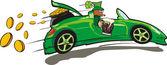 Kobold, cabrio und einen schatz — Stockvektor