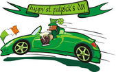 Leprechaun and happy st. patrick`s day — 图库矢量图片