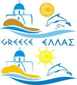 Greece - aegean sea — Stock Vector