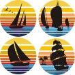 Yachting, sailing, adventure - Stock Vector