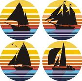 Sailing, yachting, regatta — Stock Vector