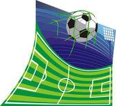 Stadion piłki nożnej i piłki nożnej — Wektor stockowy