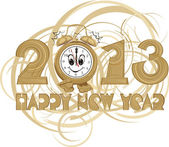 Happy new year - 2013 — Stock Vector