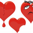 Stock Vector: Wounded heart - unhappy love