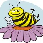 Resting bee — Stock Vector #9107794
