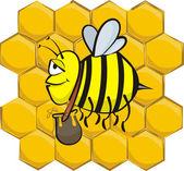 Industrious bee — Stock Vector