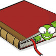 Bookworm and book — Stock Vector