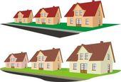 Imóveis - subúrbio — Vetor de Stock
