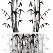 Stock Vector: Bamboo background - black and white
