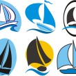 Sailing icons — Stock Vector