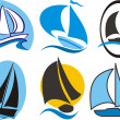 Sailing icons — Image vectorielle