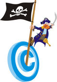 Copyright piracy — Stock Vector
