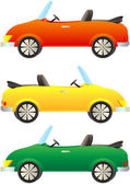 Colorful cars cabriolet — Stock Vector