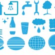 Set of isolated water objects — Stockvector #8350712