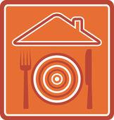 Emblem for restaurant — Stock Vector