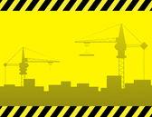 Urban construction background — Stock Vector