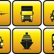 Icon with transport silhouette — Stock Vector #9166059