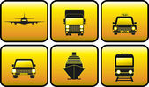 Icon with transport silhouette — Stock Vector