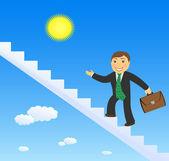 Cartoon Man Climbing Ladder Stock Illustrations  544