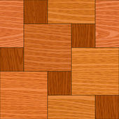 Seamless light oak square parquet panel texture — Stock Vector