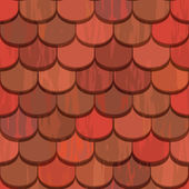 Seamless red clay roof tiles — Stock Vector