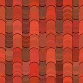 无缝红粘土屋顶瓦片 — 图库矢量图片