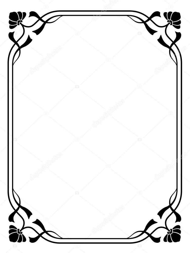 cadre d coratif ornement de style art nouveau image vectorielle 100ker 8284515. Black Bedroom Furniture Sets. Home Design Ideas