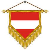Vector pennant with the flag of Austria — 图库矢量图片