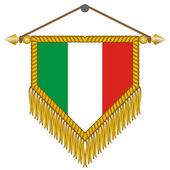 Vector pennant with the flag of Italy — Stockvektor