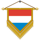 Vector pennant with the flag of Netherlands — Stock Vector