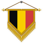 Vector pennant with the flag of Belgium — Stock Vector