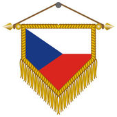 Vector pennant with the flag of Czech Republic — Stock Vector