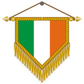 Vector pennant with the flag of Ireland — Stock Vector