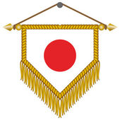 Vector pennant with the flag of Japan — Stock Vector