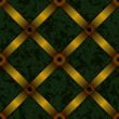 Upholstery background with gold ribbon seamless — Stock vektor