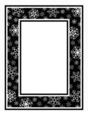 Christmas wide frame snowflake pattern — Stock Vector