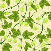 Hop seamless background — Stock Vector