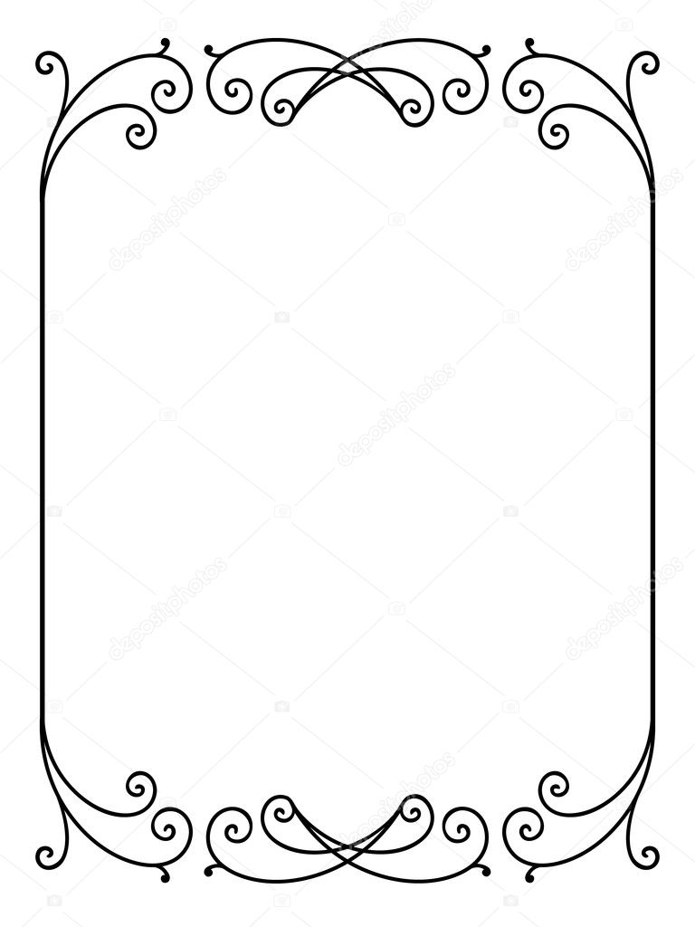 vector floral ornamental decorative frame stock vector 8798609