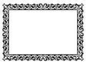 Simple ornamental decorative frame — Stock Vector
