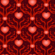 Heart with ribbons seamless background — Stock vektor