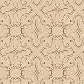 Calligraphy penmanship decorative seamless background — Stock Vector