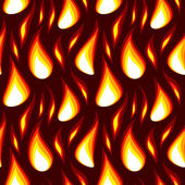 Red flame seamless background — Vector de stock