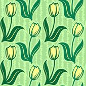 Patrón sin costuras fondo tulip — Vector de stock